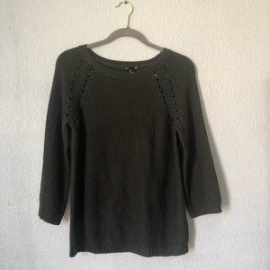 H&M Basic Military Green Sweater